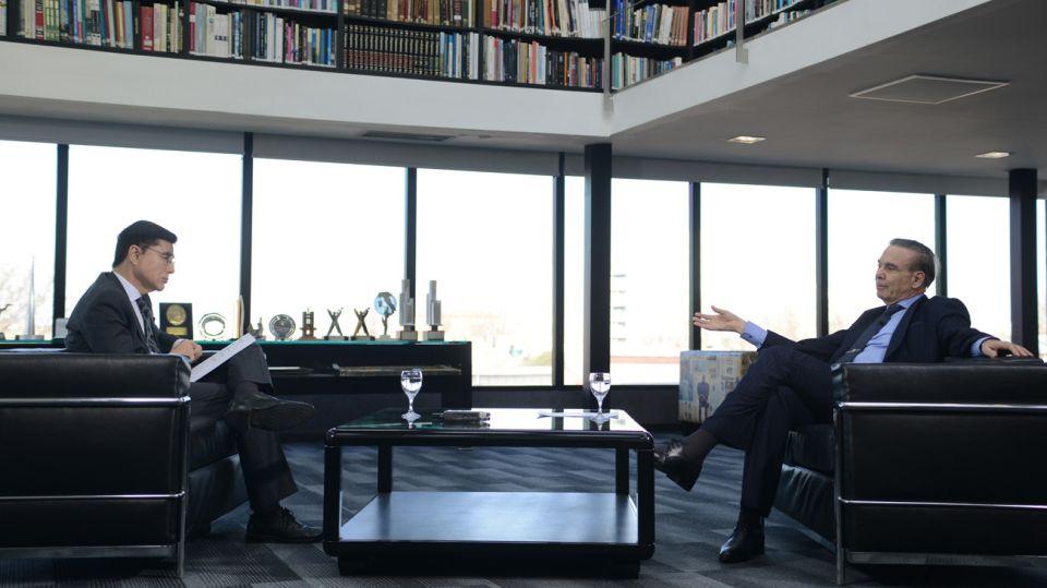 Miguel Angel Pichetto, en la entrevista con Jorge Fontevecchia.