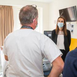 Sophie Wilmes en hospital Bélgica  | Foto:Cedoc