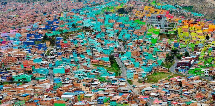 Vista general del barrio de Ciudad Bolívar, al sur de Bogotá, el 15 de mayo de 2020, en medio de la pandemia de coronavirus Covid-19. (Foto por Raúl ARBOLEDA / AFP)