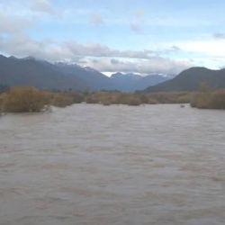 inundaciones en Lago Puelo. Los ríos desbordados.