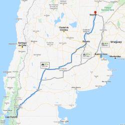 Unos 2.200 km separan las localidades de Goya con Lago Puelo. El clima en exactamente el opuesto en ambos lados.