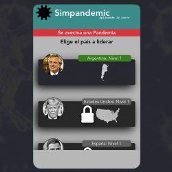 Captura de Pantalla del inicio de Simpandemic. | Foto:Cedoc.