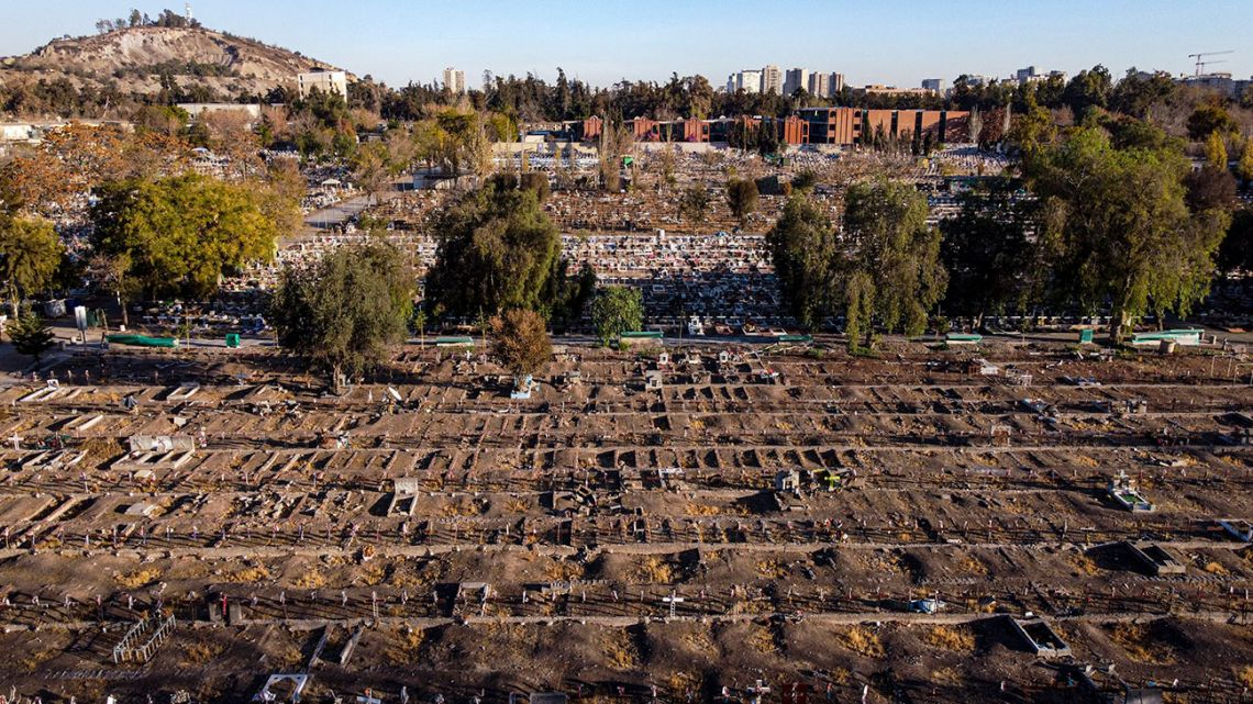 Freshly dug graves are readied at the Santiago General Cemetery amid the new coronavirus pandemic, May 15, 2020. According to Raschid Saud, director of the General Cemetery, there has been an increase in demand.