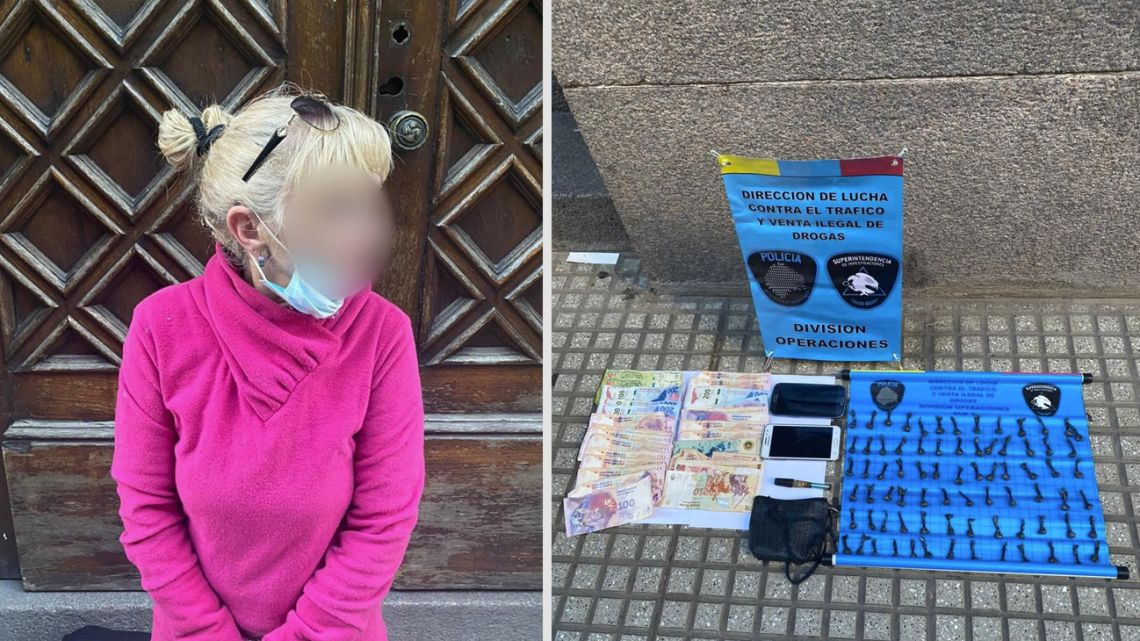 The 'Narcoabuela' was arrested in San Telmo.
