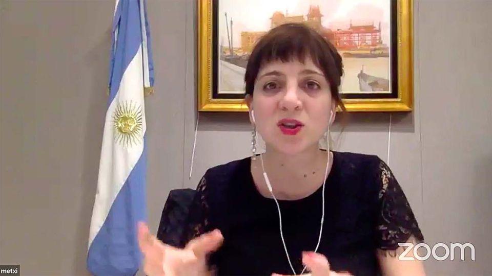 La directora nacional de Género del ministerio de Economía, Mercedes D'Alessandro