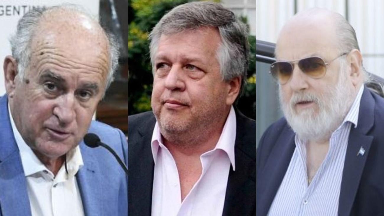 Oscar Parrilli, Carlos Stornelli y Claudio Bonadio.