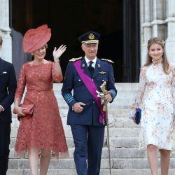 La familia real belga solidaria.