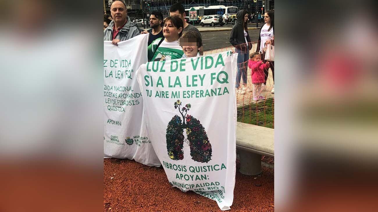 Ramiro peleando para que salga la ley de Fibrosis Quística