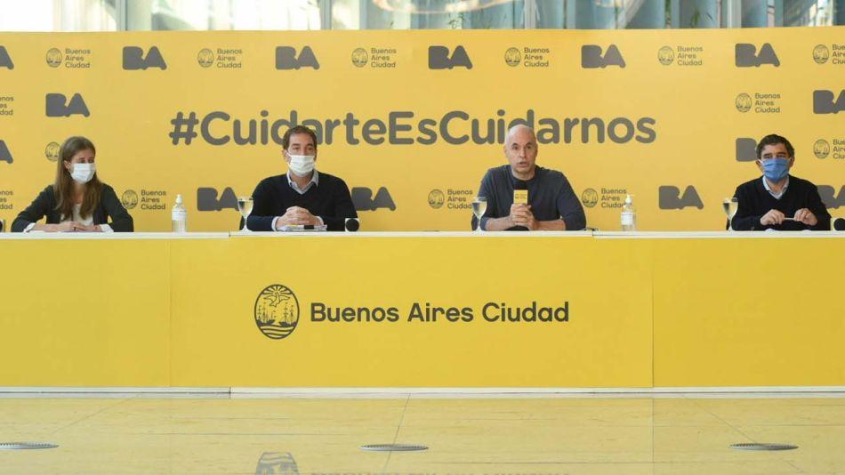 Rodriguez Larreta y sus funcionarios con barbijos-20200520