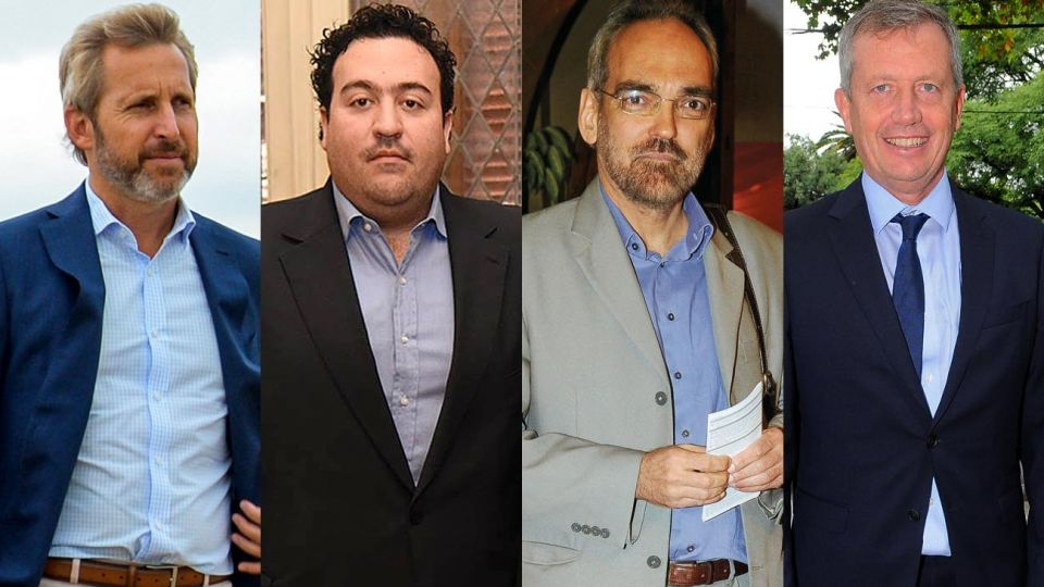 Rogelio Frigerio, Antonio Carambia, Fernando Iglesias, y Emilio Monzó