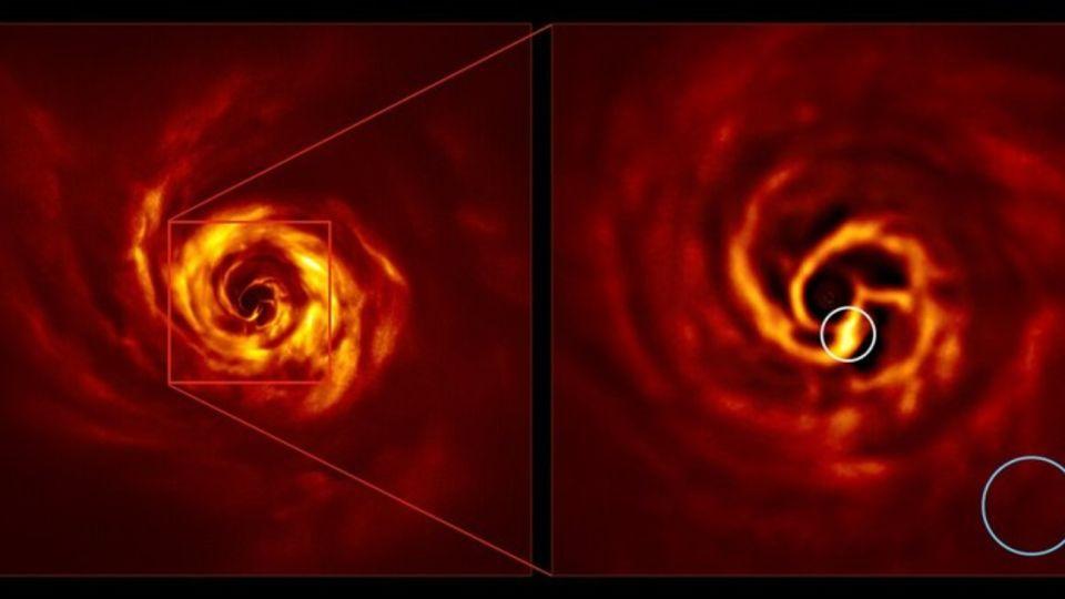 Las imágenes fueron tomadas por el Very Large Telescope (VLT) del Observatorio Europeo Austral