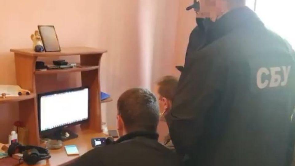 Foto del arresto realizado en Ucrania