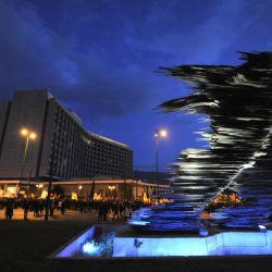 La estatua al runner es uno de los atractivos turísticos más nuevos de Grecia.