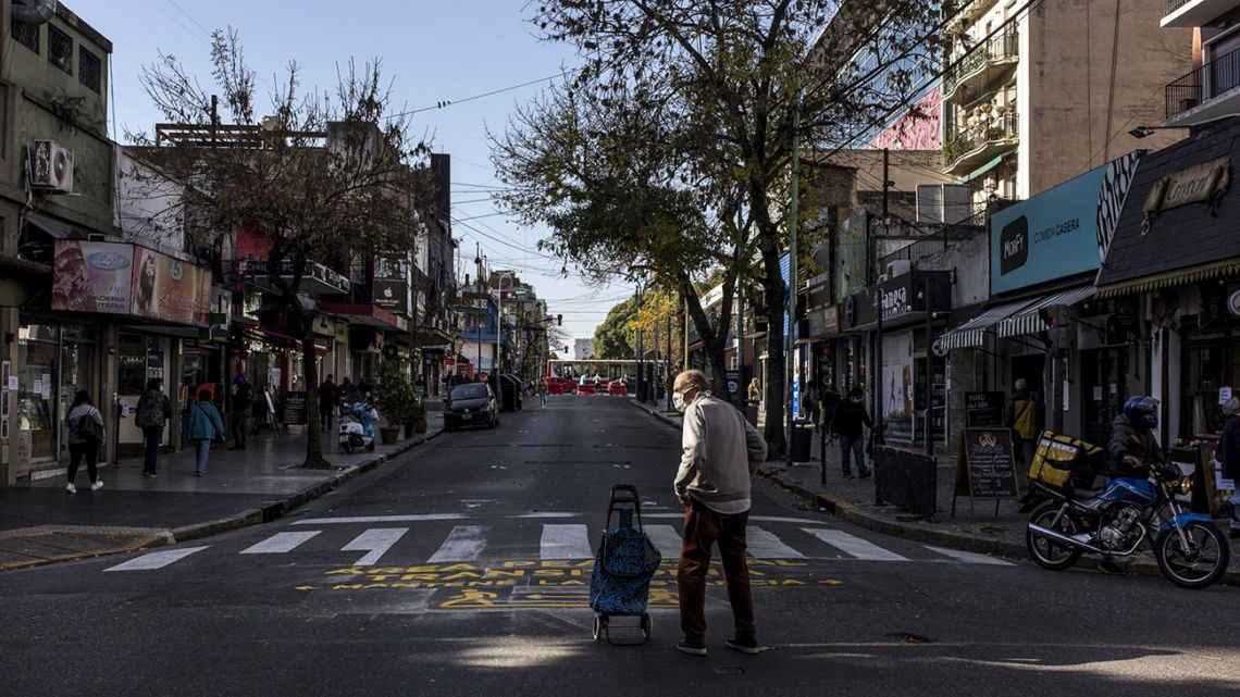 A street in Buenos Aires, pictured during the coronavirus pandemic.