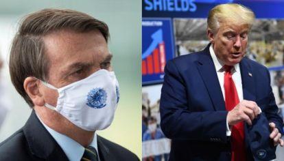 Bolsonaro y Trump recomiendan la hidroxicloroquina como remedio para el coronavirus.