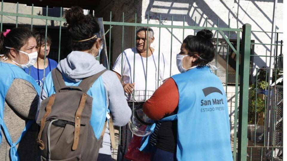 Esta semana, avanzaron los testeos en barrios vulnerables del Conurbano.