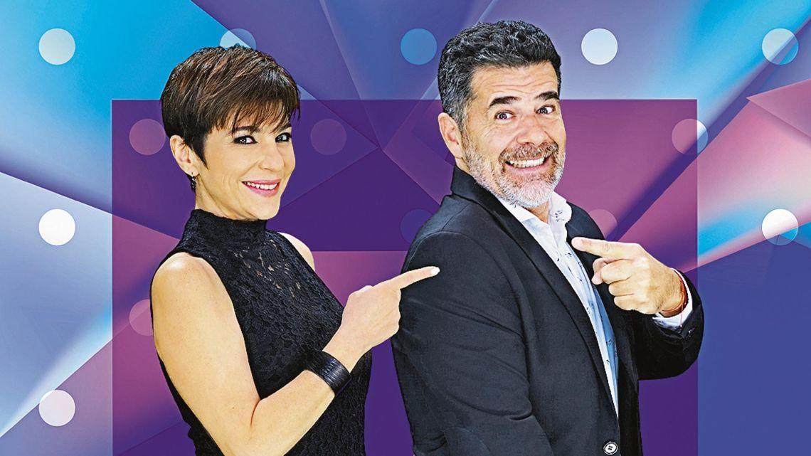 Carolina Papaleo y Julián Weich.   Foto:cedoc