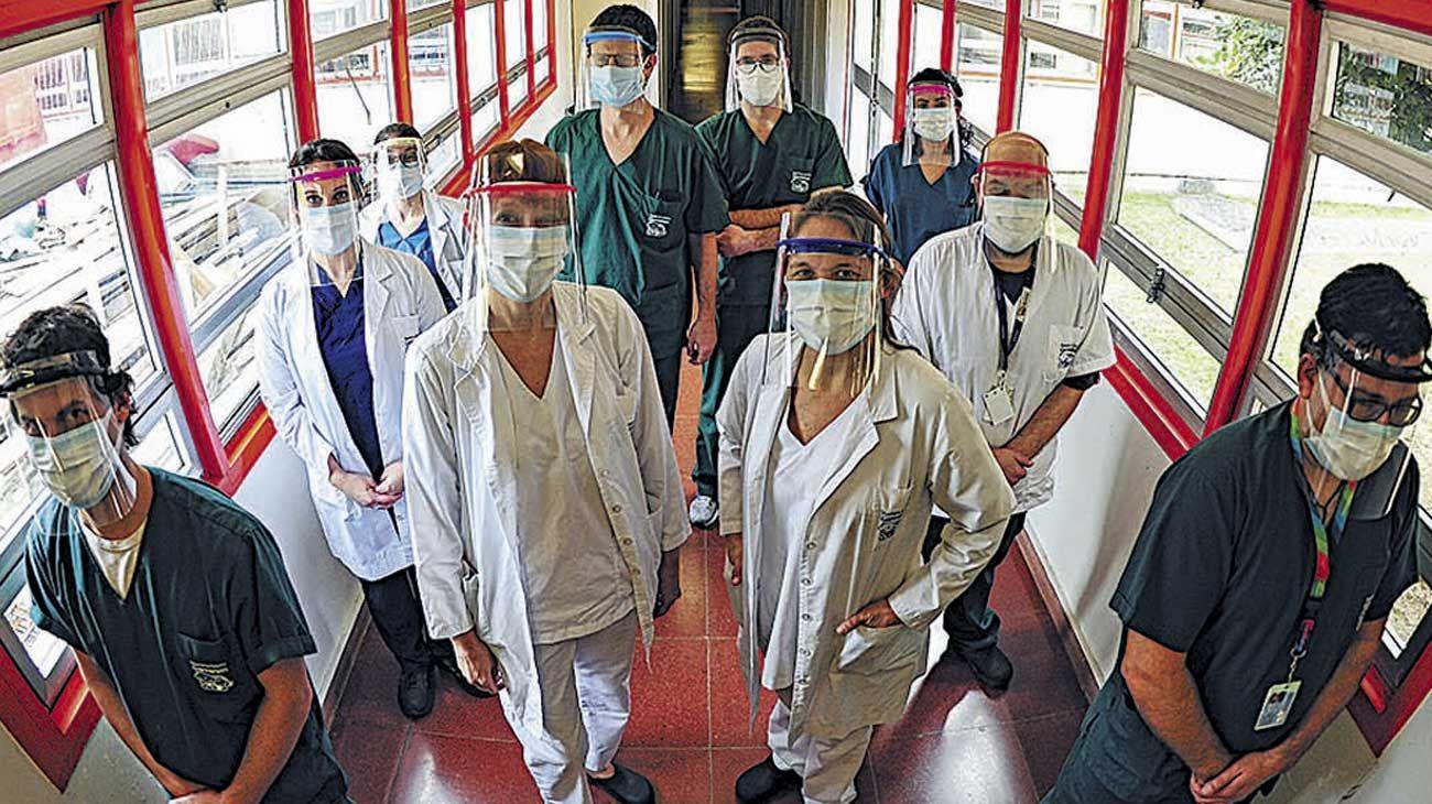 Trabajadores de la salud.