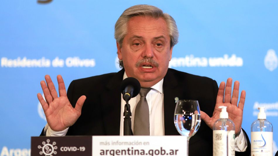 Alberto Fernández, en el anuncio de la extensión de la cuarentena hasta el 7 de junio.