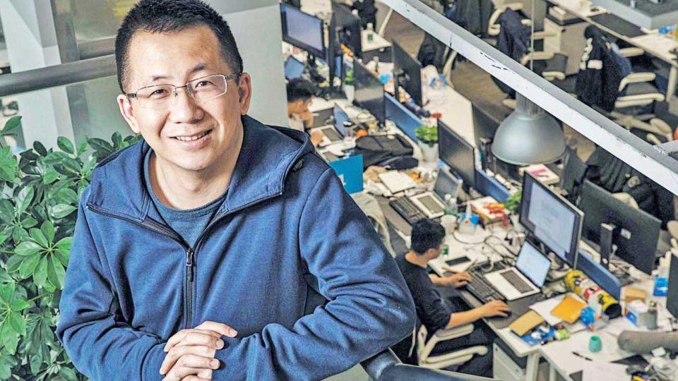 Beijing. Yiming en la sede de su conglomerado ByteDance que durante mayo alcanzó una valuación de cien mil millones de dólares.