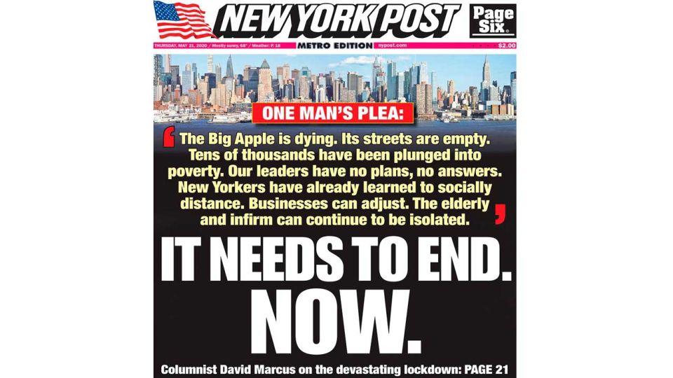 Foto del futuro.  Nueva York recheza limitaciones.