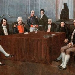 La Primera Junta, en 1810.   Foto:Cedoc