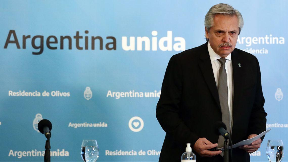 President Alberto Fernández.