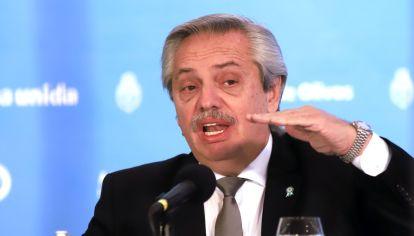 ALBERTO FERNÁNDEZ ANUNCIÓ UNA NUEVA EXTENSIÓN DE LA CUARENTENA EN LA REGIÓN AMBA. //NA