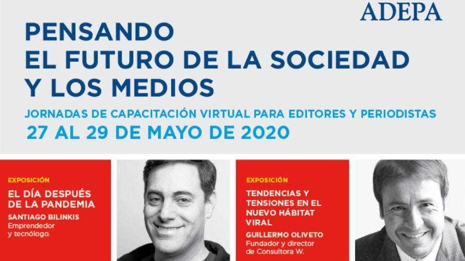 Adepa: jornadas de capacitación virtual para periodistas y editores del 27 al 29 de mayo.