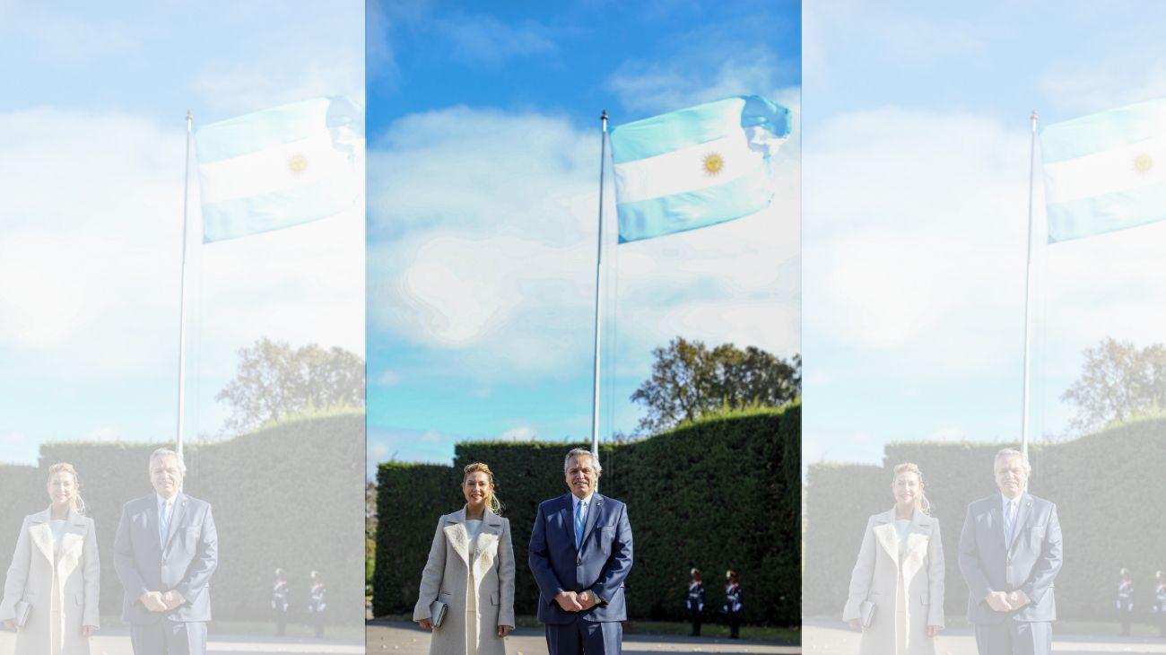 Alberto Fernández y Fabiola Yáñez, en Olivos.