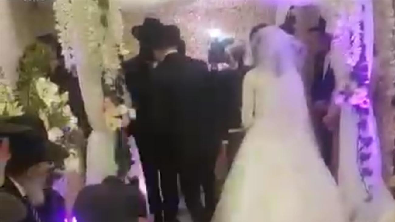 casamiento judío se llevó a cabo durante la cuarentena
