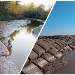 El 25 de Mayo fue un día histórico para el río Paraná: dejó a la vista el túnel subfluvial, y seco San Fernando.