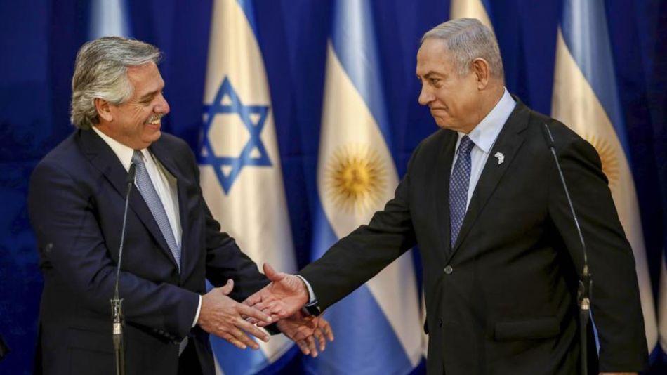 Alberto Fernández,Benjamín Netanyahu, 20200525