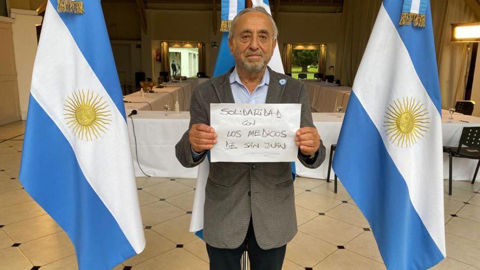 El infectólogo Pedro Cahn se solidarizó con los médicos detenidos