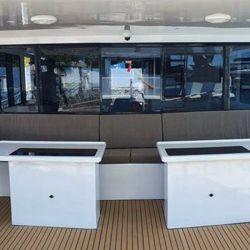 Esta embarcación fue diseñada para disfrutar del aire libre.