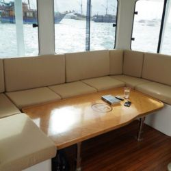 El Aquanima 40 cuenta con Wi-Fi, aire acondicionado y cocina totalmente equipada.
