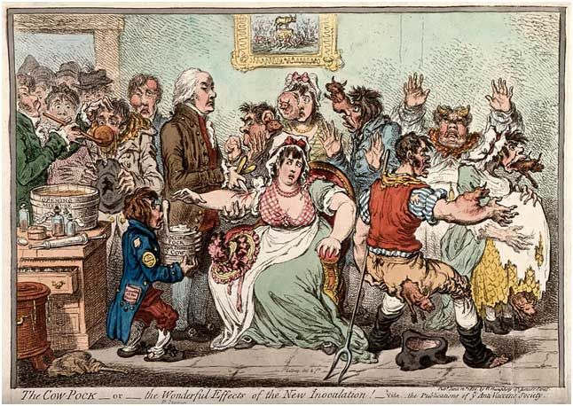 The Cow-Pock, de James Gillray