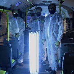La Plata: Las empresas de transporte publico de pasajeros de La Plata incorporarán un sistema ionizado para aplicar como complemento a los protocolos sanitarios, como medida para prevenir el coronavirus, según se informó hoy oficialmente. Foto: Télam. | Foto:Télam