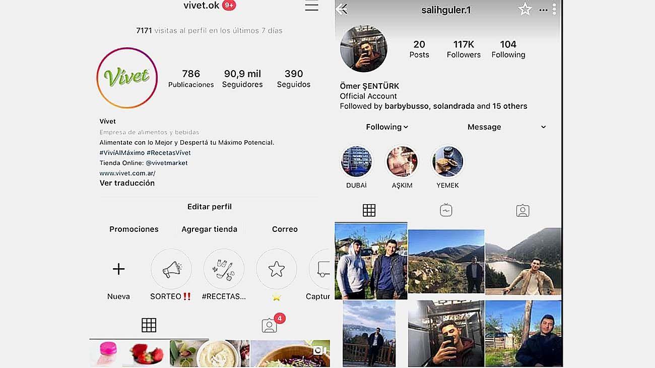Robo y comercialización de cuentas de Instagram