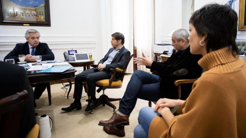 Alberto Fernandez en La Plata junto a Kicillof 20200527