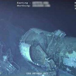 El USS Nevada fue encontrado por drones submarinos a 120 kilómetros de Pearl Parbor y 4.690 m de profundidad.