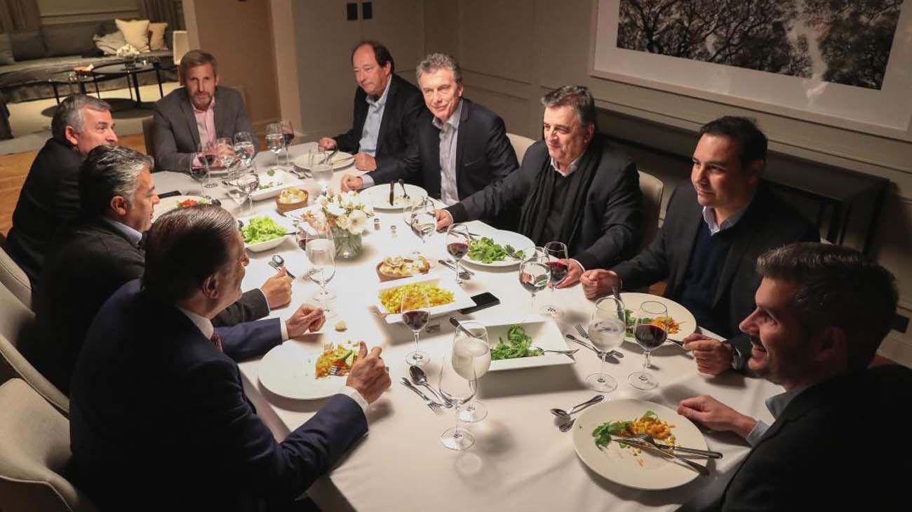 Mauricio Macri con Radicales