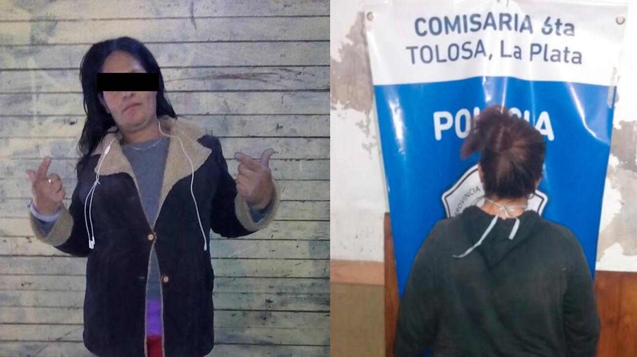Patricia Alejandra Domínguez tiene 38 años y fue detenida a pocos metros de la casa de la jubilada.