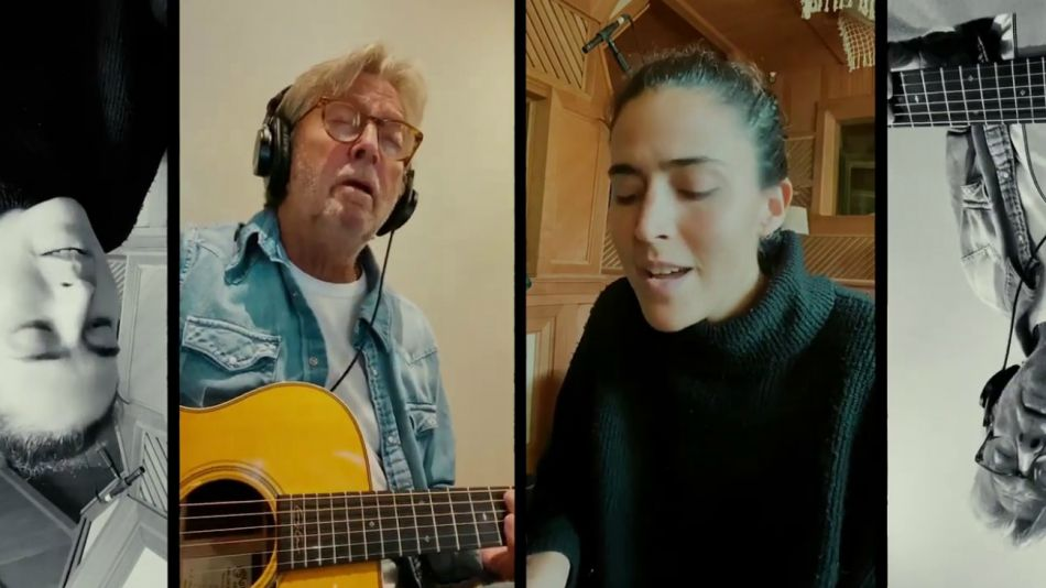 Eric Clapton canta con Maro en cuarentena