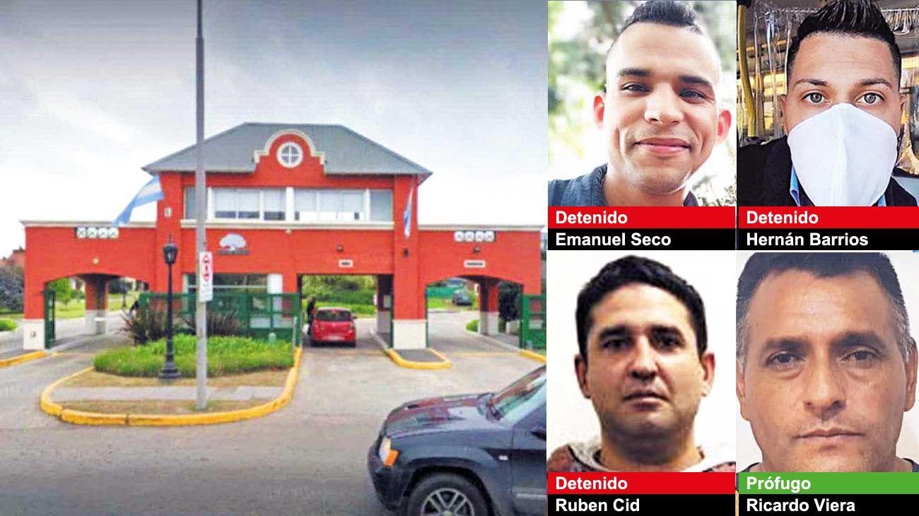 Golpe. Los ladrones eran empleados de la empresa de seguriddad del barrio cerrado. Sorprendieron a las víctimas por la noche para dificultar la visión y cortaron la señal de las cámaras del complejo.