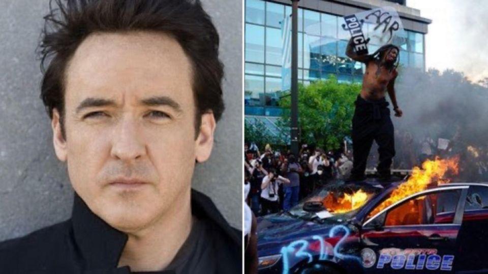 Policías golpean al actor John Cusack durante protestas en Estados Unidos