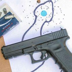Un disparo de CCI Shotshell calibre .40 S&W sobre un blanco a un metro y medio parece tener la concentración de perdigones necesarias para ser efectivo.