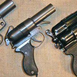 El Tipo 10 fue sin dudas la segunda pistola de bengalas japonesa más común.