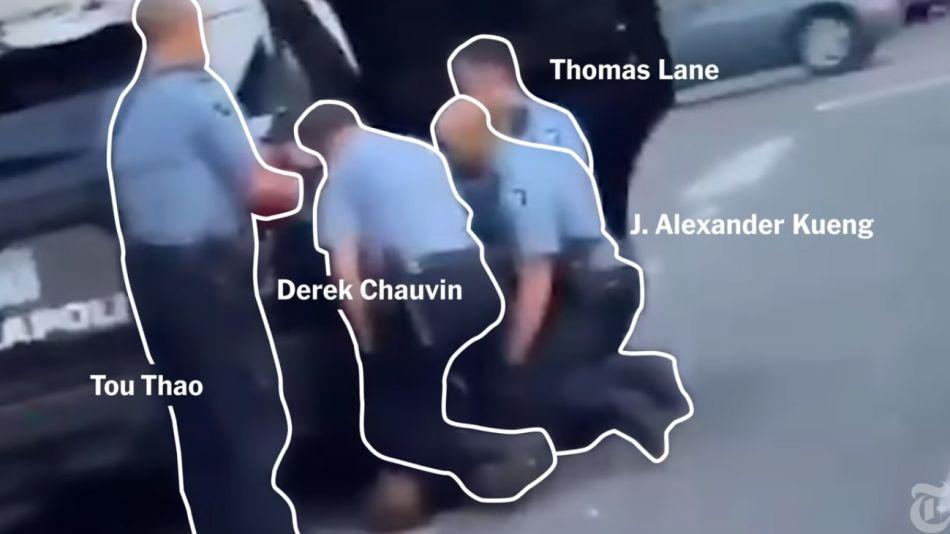 investigacion visual de como fue asesinado George Floyd  20200602