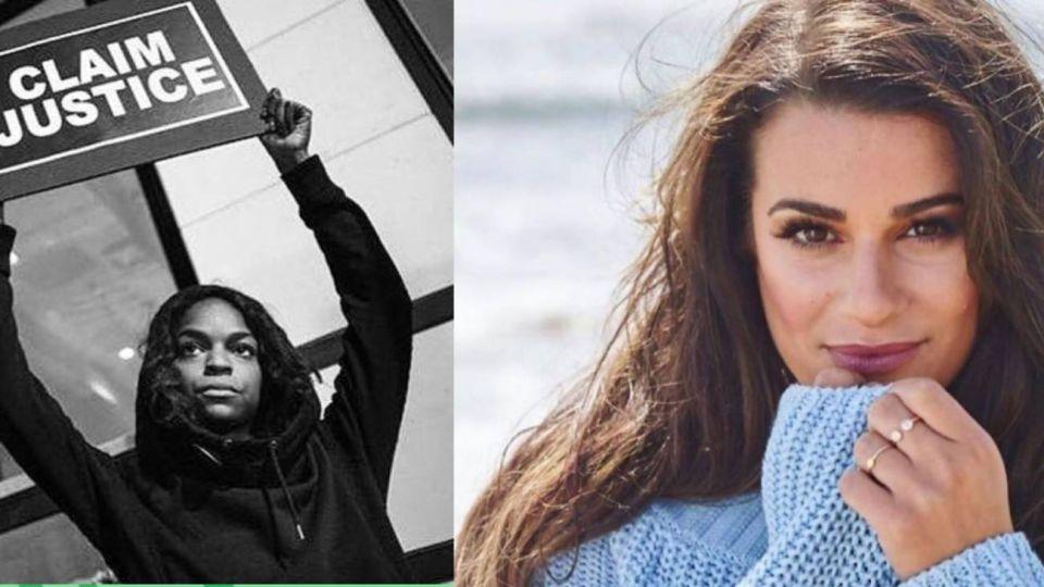 Lea Michele fue acusada de racista en medio de la polémica por la muerte de George Floyd